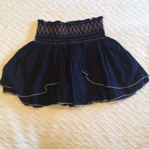 Free People bohemian mini skirt